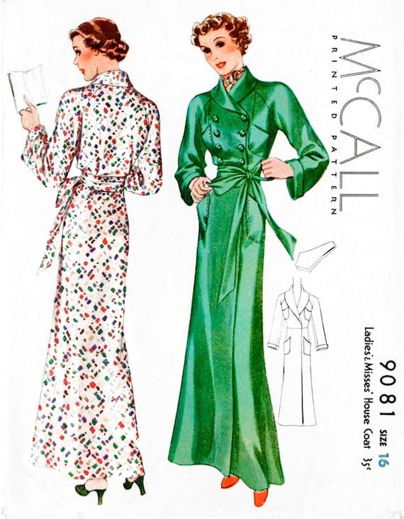 1930er Jahren 30er Jahre Mantel Muster / / Vintage