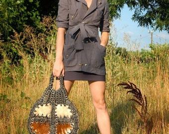 ORGANIC Hemp Snap Jacket  (made from Lightweight Hemp and Organic Cotton muslin)