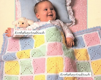 Baby Afghan, Crochet Pattern. PDF Instant Download.