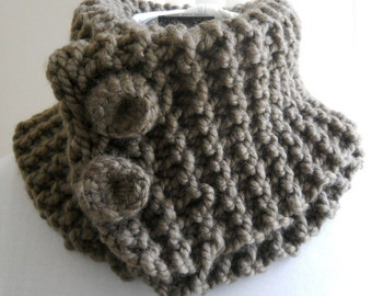 Chunky Taupe Cowl, Convertible