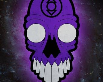 Indigo Tribe (indigo lantern) Skull *PRINT*