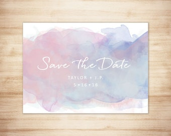 Dreamy Watercolor Save the Date