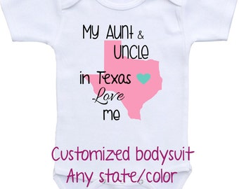 Texas Love Onesie Etsy