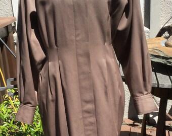 Vintage Neiman Marcus wool coat dress/ shirt dress