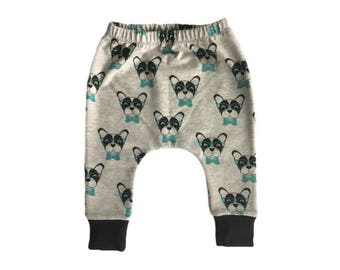 Dapper Dogs Harems, hipster baby harems. baby boy dog leggings, toddler boy leggings, unisex baby harems, baby boy clothing, hipster toddler