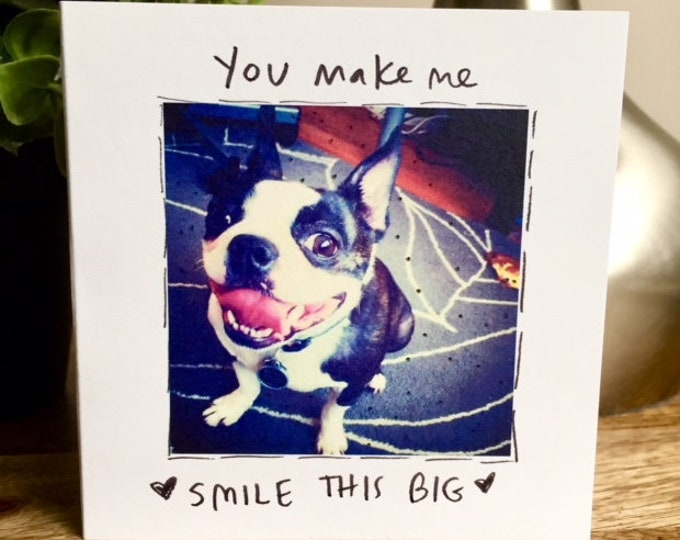 Smile this Big, You Make Me So Happy Card, One Year Anniversary Card, Paper Anniversary, Card for Husband, 365 days, 1st wedding anniversary