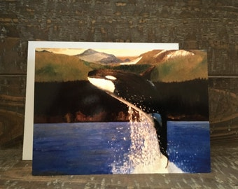 Note Card -- Orca Whale