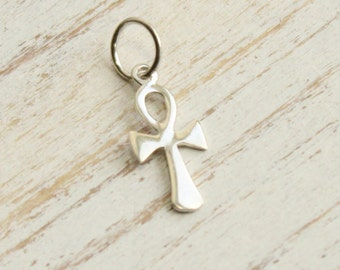 Sterling Silver Ankh Charm -- 1 Piece... Sterling Silver Pendant