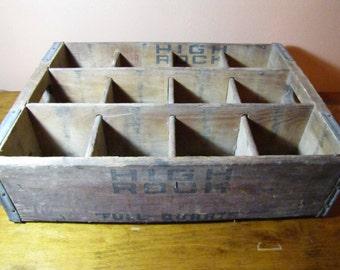 Vintage High Rock Ginger Ale Co. Wooden Drink Crate