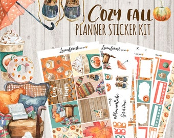 November Planner sticker kit, fall stickers, autumn stickers, fall sticker kit, weekly sticker kit, eclp stickers, happy planner,  SK0027