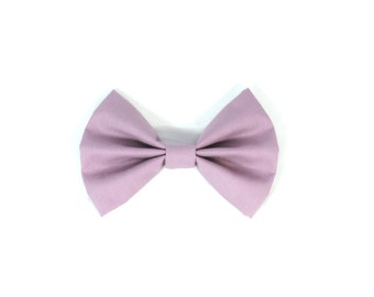 Lavender Fabric Bow Hair Clip or Bow Tie - dainty and Dapper