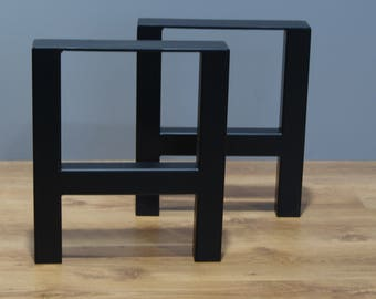 Bench legs, coffee table legs, bench base, coffee table base (SET OF 2)