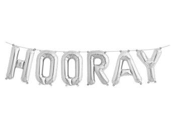 Hooray Balloons, Hooray Banner, Script Balloons, Balloon Banner, Graduation Party, Engagement Party, Hip Hip Hooray, Letter Balloons