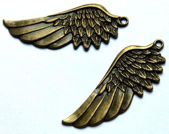 a large wing steampunk bronze 57x22mm