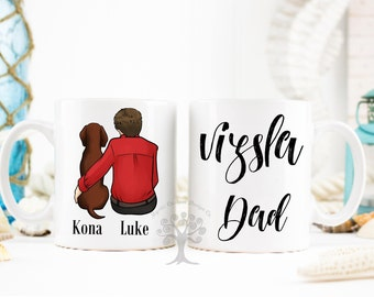 Vizsla Dad mug, Vizsla Dad Gift, Vizsla Mug, Hungarian Vizsla Gift, Dog Lover Mug, Hungarian Vizsla, Magyar Vizsla Gift, Vizsla Lover Gift