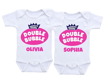 Twin girl gifts Twins baby gift baby twins costume twin onesies baby twin girls twin onsies twin outfits girl twin onesies girl twin outfits