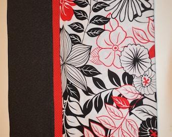 Red & Black Flower Pillow Case
