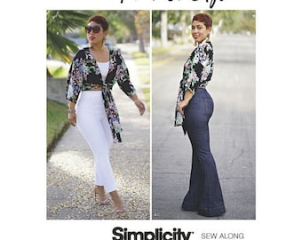 Simplicity Pattern 8655 Misses High-Waisted Pants and Tie Top by Mimi G Style