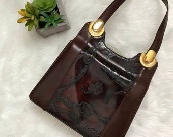 Italian Leather Equestrian Purse