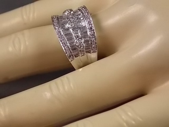 Diamond Cigar Band Ring 95 Ctw 12mm wide 72gm Size 825