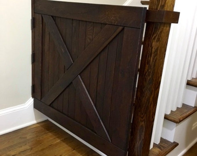 Barn Door Baby Gate, Pet Gate, Stair Gate, Made With Reclaimed Oak