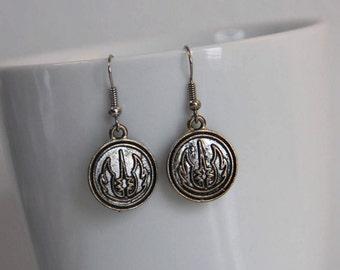Star Wars Jedi Order Dangle Earrings - Galactic Republic - Symbol - Nerdy - Geeky