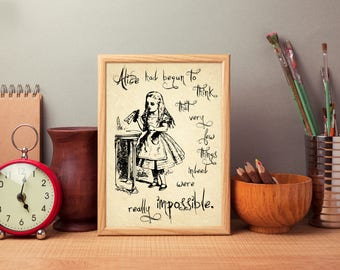 Alice in Wonderland Poster Print - 'Drink Me'