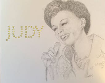 Judy Garland 11x14 pencil drawing