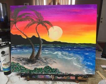 Rainbow Sunset at the Beach