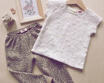 Kids Cotton lace top