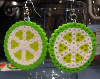 Whole Fruit Slice Perler Earrings
