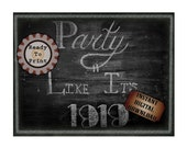 Party Like It's 1919 Sign Printable Chalkboard Art ~ Roaring 20s Speakeasy Gangster 1920s Rustic Hand Drawn Print - Wedding Decor 8.5X11 JPG