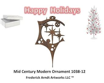 1038-12 Mid Century Modern Christmas Ornament