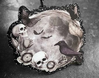 The Raven and The Moon Necklace