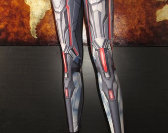 TAFI Anime Armor Leggings - Sci-Fi Fantasy Armour Costume Yoga Pants Black Milk Galaxy CosPlay Print