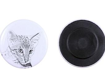 Magnet with a cat -Savannah cat