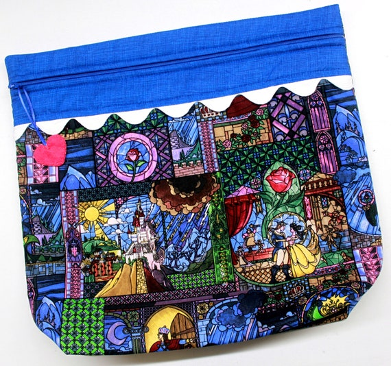 MORE2LUV Beauty and the Beast Cross Stitch Project Bag