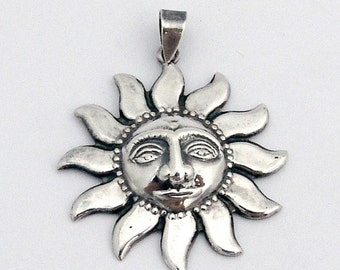 SaLe! sALe! Sun Pendant Sterling Silver