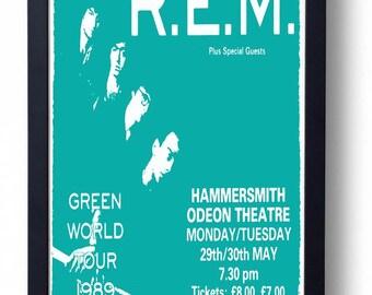 REM Framed Gig Poster Print