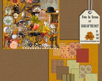 Digital kit SIGHS of the PAST, past,  golden years, belle époque, vintage