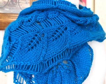 Instant Download pdf Hand Knitting Pattern - Lacy Vine Scarf
