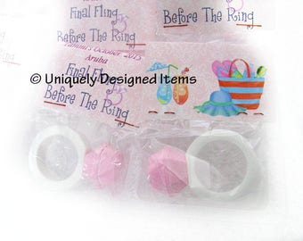 Bachelorette Party Favors - Bachelorette Party - Personalized Bachelorette candy party rings-unique and fun! Customize for your party!