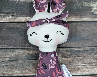 Handmade bunny doll,Cloth doll,ready to ship doll,fabric doll,rag doll,gifts for girls,girls toy,bunny gift,easter basket gift,bunny rabbit