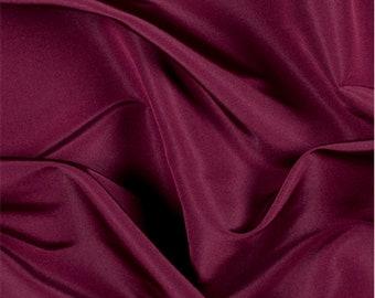 Burgundy Silk Faille, Fabric By The Yard