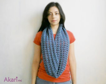 Lacy circular scarf crochet Pattern. Long infinity scarf PDF crochet pattern _ C08