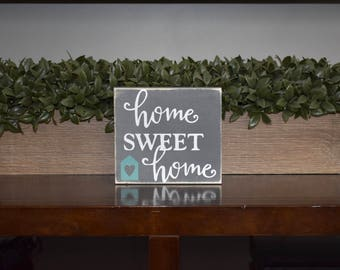 Home Sweet Home Mini Wood Sign