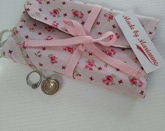Fabric Jewellery Roll, Organiser ideal for Travel