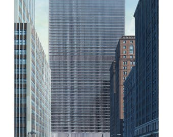Poster - Marcel Breuer, made of the Tower Grand Central, NY, 1967-1969 - fine art gallery