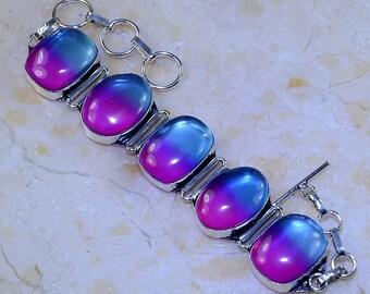 """Ametrine Sterling Silver Bracelet Size 6 1/2 - 8"""""""