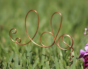 Copper Wire I DO wedding Cake Toppers - Decoration - Beach wedding - Bridal Shower - Bride and Groom - Rustic Country Chic Wedding